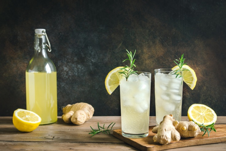しょうがとレモンのレモネード