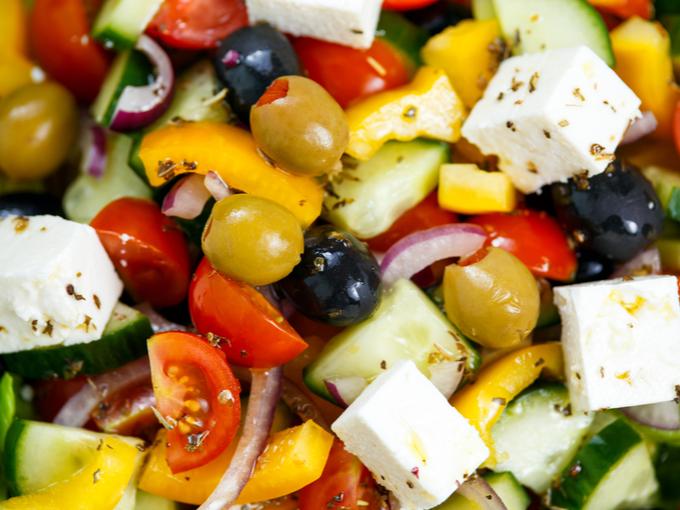 野菜が豊富な地中海食