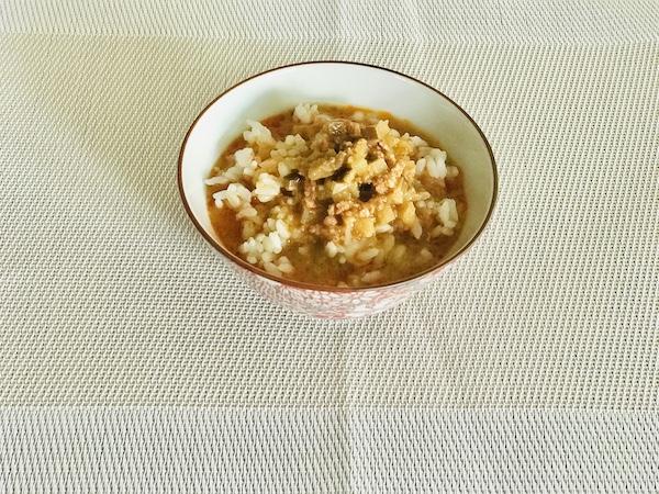 無印良品「冷やし胡麻味噌担々スープ」のできあがり状態