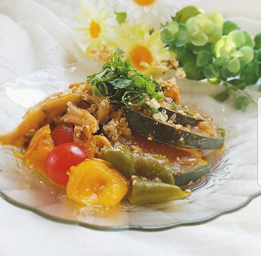 抗酸化パワーでお肌を修復!! 「鶏肉と夏野菜のトマト煮」
