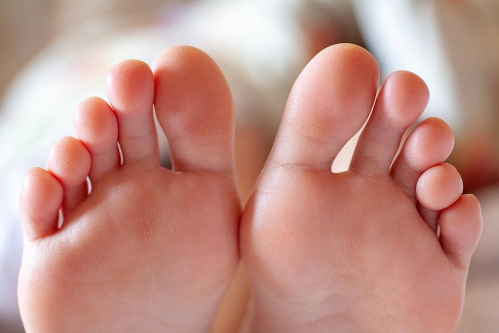足指のアップ