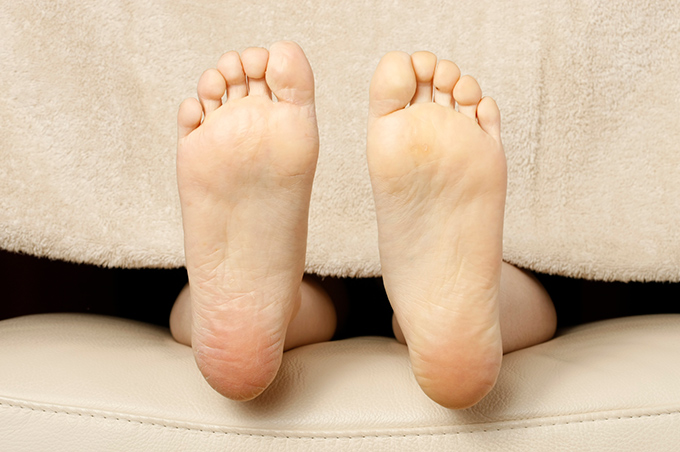 かさついた人の足裏