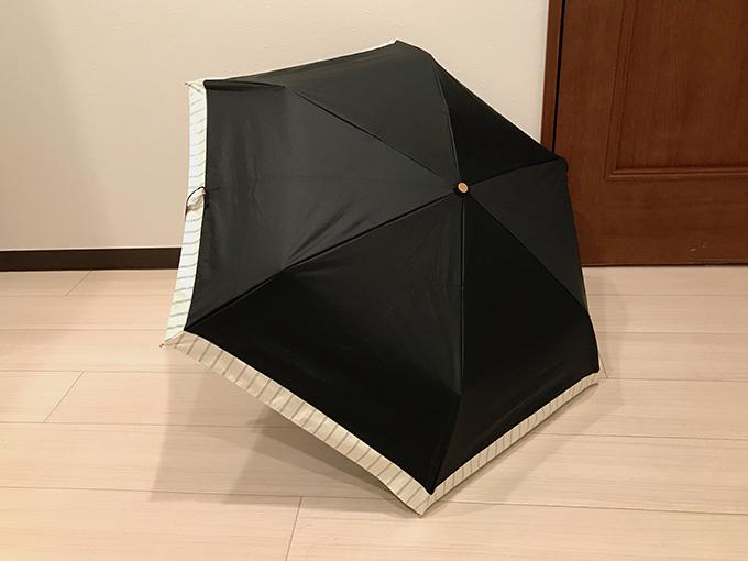 広げた日傘