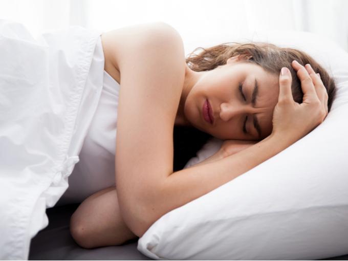 睡眠時無呼吸の女性