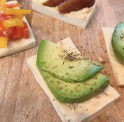 高野豆腐の発酵オープンサンド