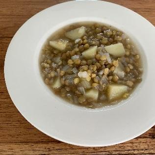 レンズ豆のスープできあがり