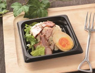 「煮玉子と燻製ベーコンのポテトサラダ」の画像