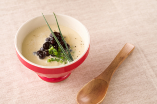 豆腐ととうもろこしの冷たいスープ