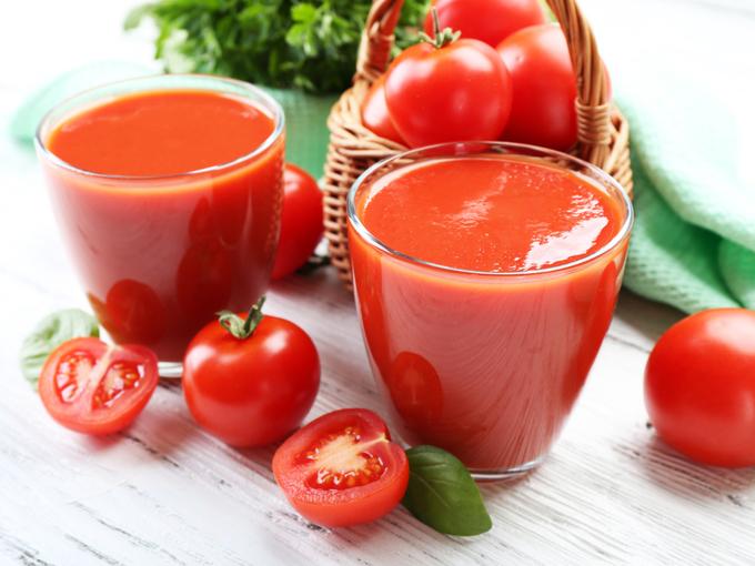 ミニトマトとトマトジュース
