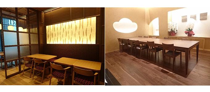 テーブル席と個室の写真