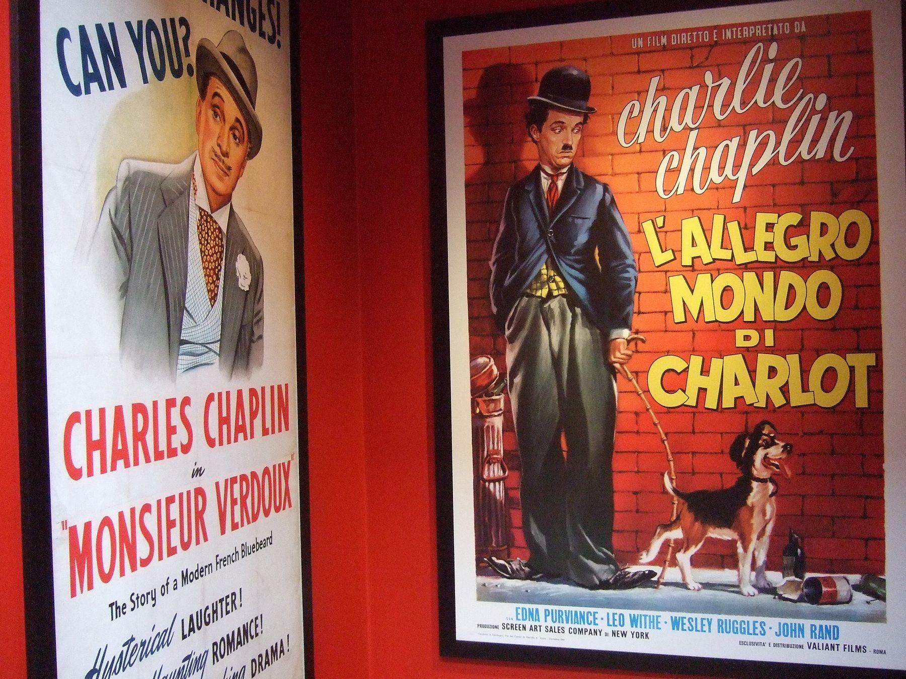 チャップリンの映画のポスター