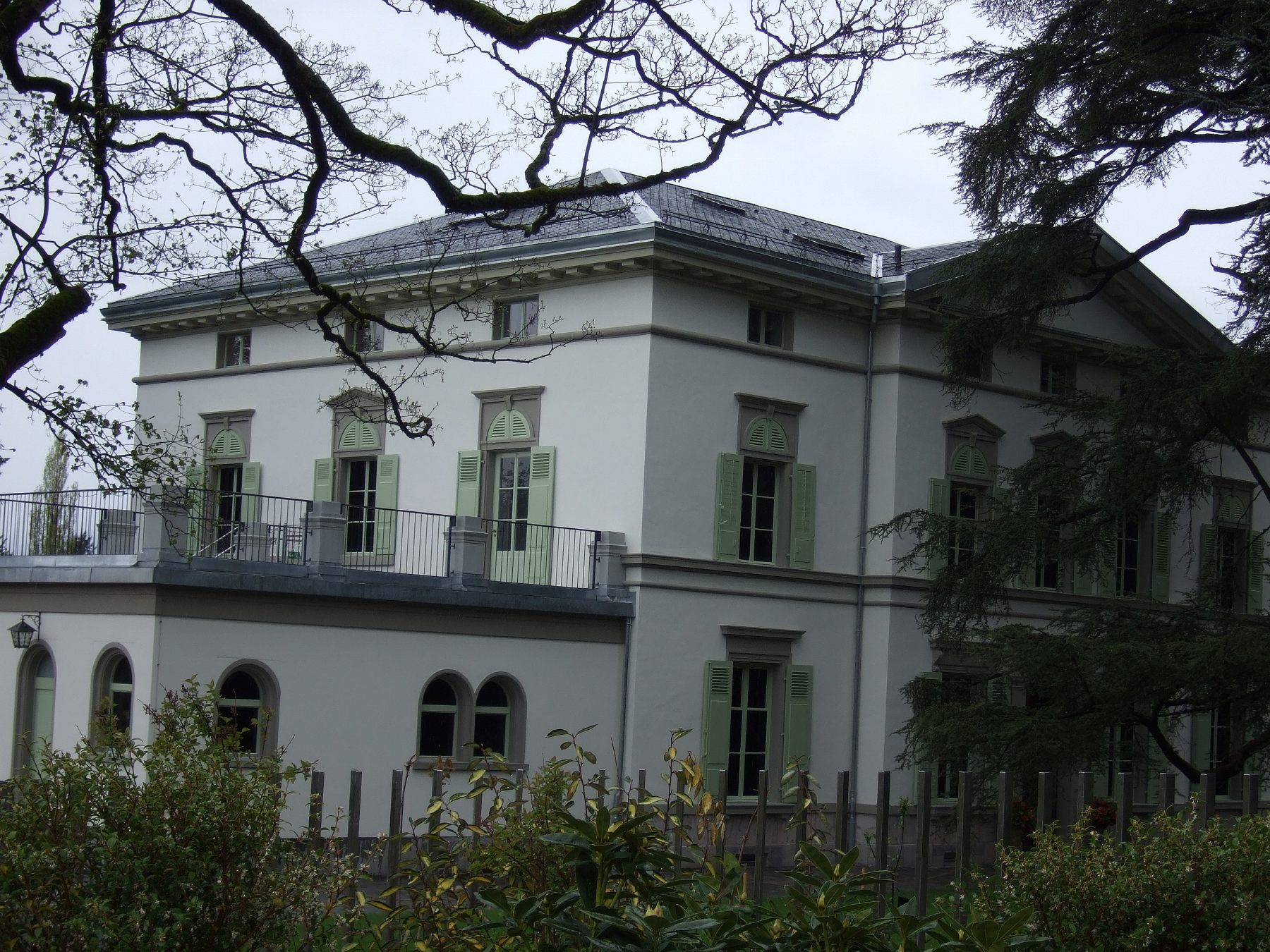 チャップリン邸の外観