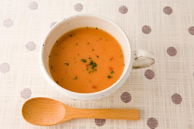 おからパウダー入りトマトスープ
