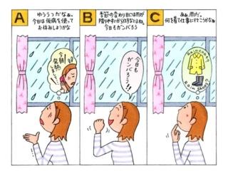 【心理テスト】仕事の日に雨が降っていました。あなたが真っ先に思ったことは何?