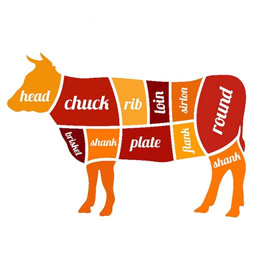 牛肉の部位イラスト