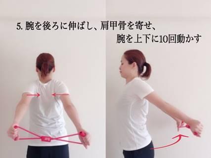 腕を後ろに伸ばして肩甲骨のストレッチ