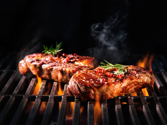 グリルで作る肉料理