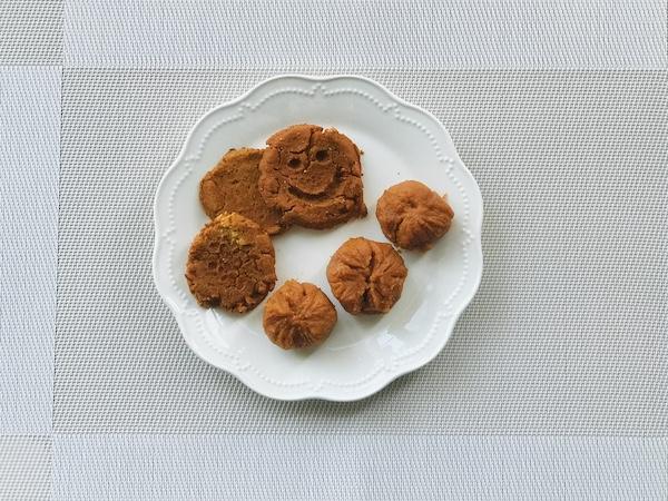 「ストークリー パンプキンペースト」で作ったクッキーときんとん