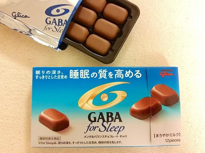 GABAチョコの箱と袋から開けたチョコレート