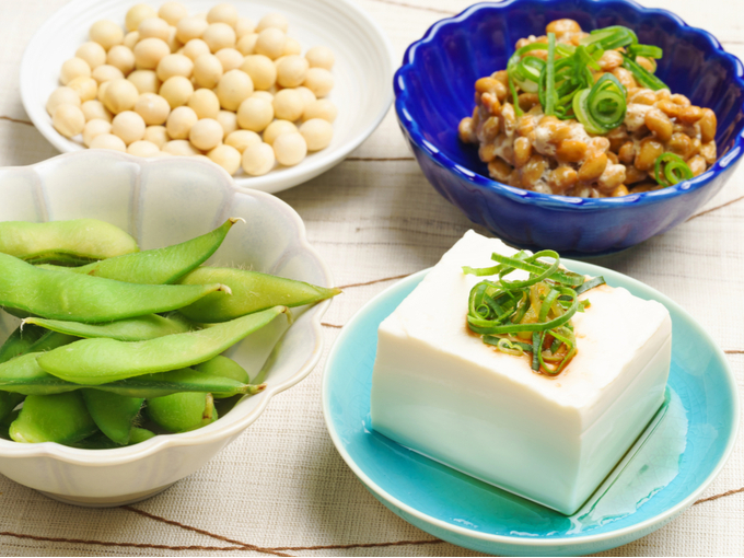 納豆や豆腐などの大豆食品