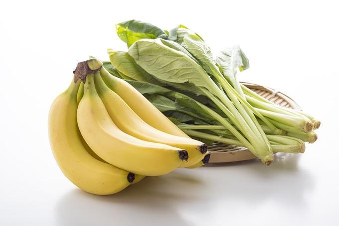 バナナと小松菜の画像