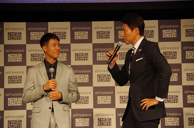 錦織選手、松岡修造さんの写真