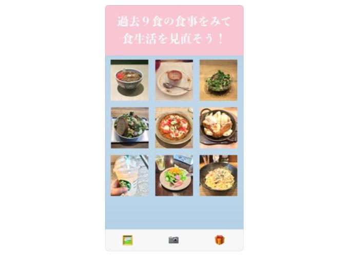 9食分の食事を撮影した画像