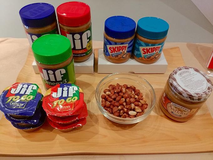 ピーナッツとピーナッツの加工製品
