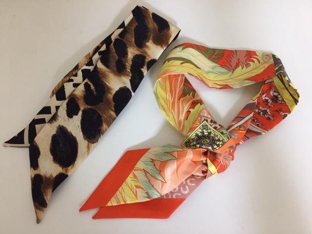 細長いスカーフ