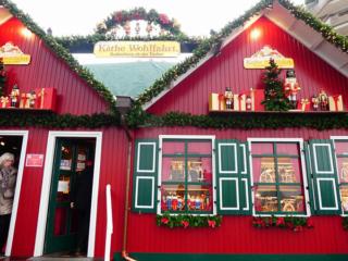 クリスマスマーケットの建物