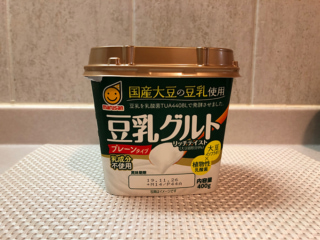 豆乳を発酵させた「豆乳グルト」