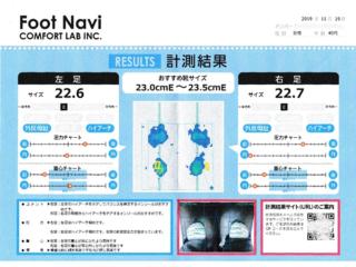 足型計測結果の画像