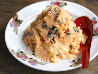 【最強腸活!】「キムチ×ヨーグルト」で作る「韓国のりのキムチヨーグルトポテサラ」