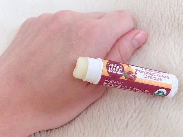 ホールフーズ リップバーム ポメグラネイト オレンジ