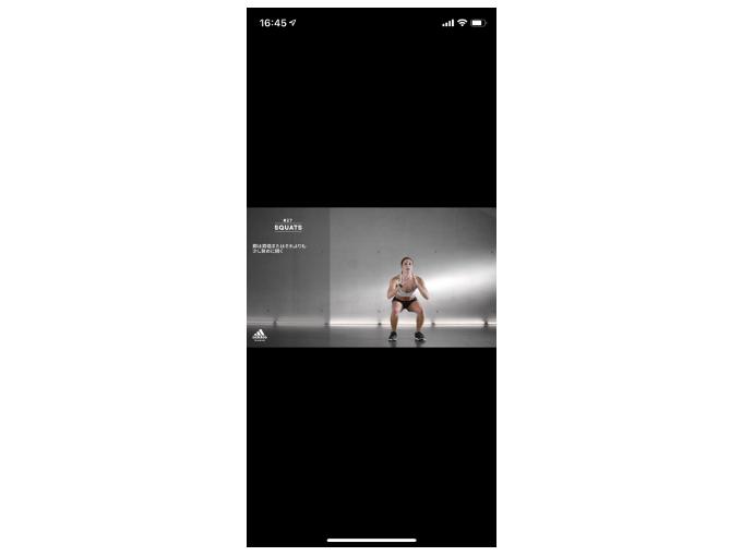 「SQUATS」の実演動画を再生した画像