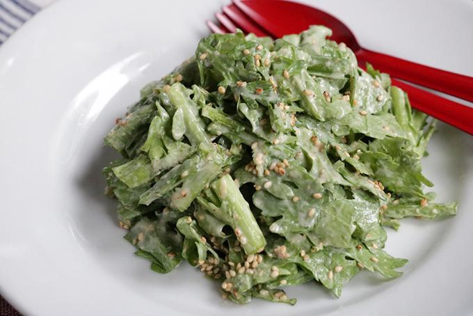 春菊のすりごま味噌サラダ