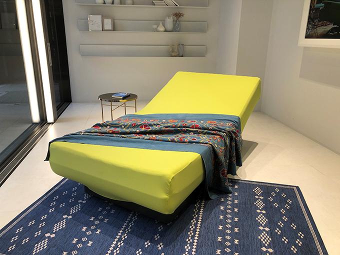 睡眠状態に合わせ角度を自動調整する「アクティブスリープベッド」