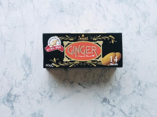 ジャンナッツ ジンジャー ビスケットのパッケージ(横)