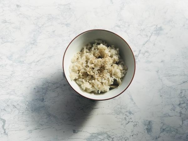 白しょうゆで作った炊き込みごはん