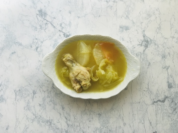 有機野菜ブイヨンで作った冬野菜スープ