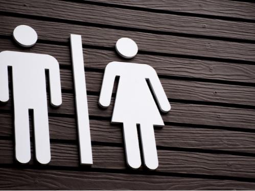 トイレの入り口の男女のマーク