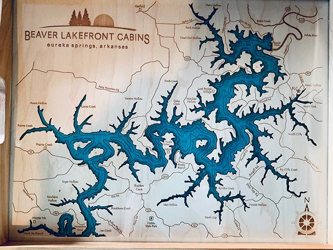 ビーバー湖の地図