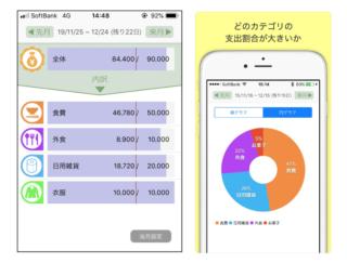 やりくりの定番、袋分け家計簿をカンタンアプリで♪ 「袋分家計簿:簡単人気の家計簿アプリ」