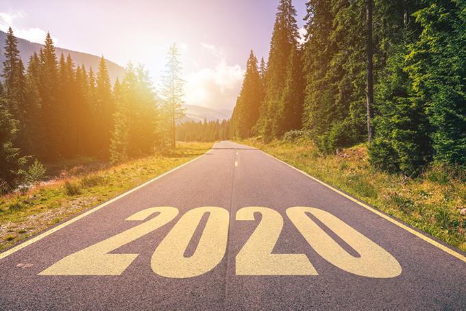 2020年の道の写真