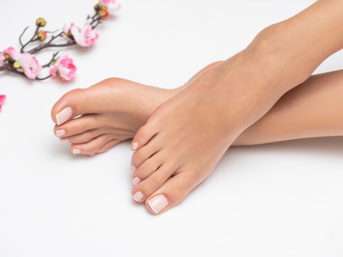 きれいな足の女性