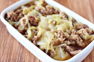 「牛肉と白菜のすき煮」