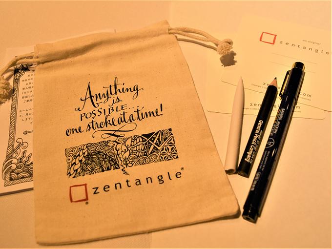 ゼンタングルの道具一式の画像