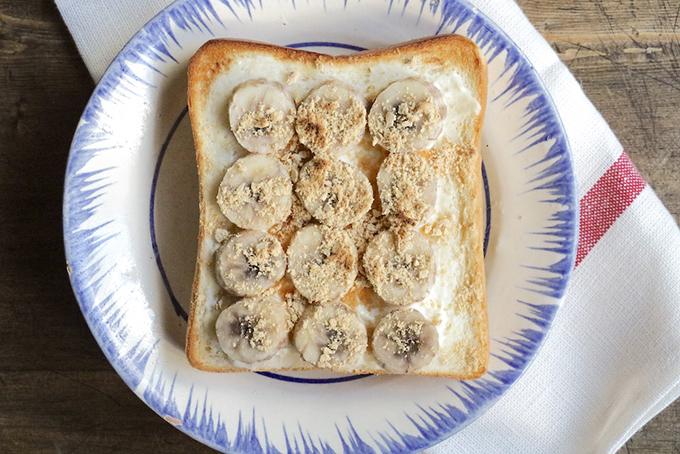 バナナきな粉のジンジャートースト