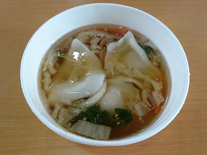 もちもち水餃子と野菜の中華スープ