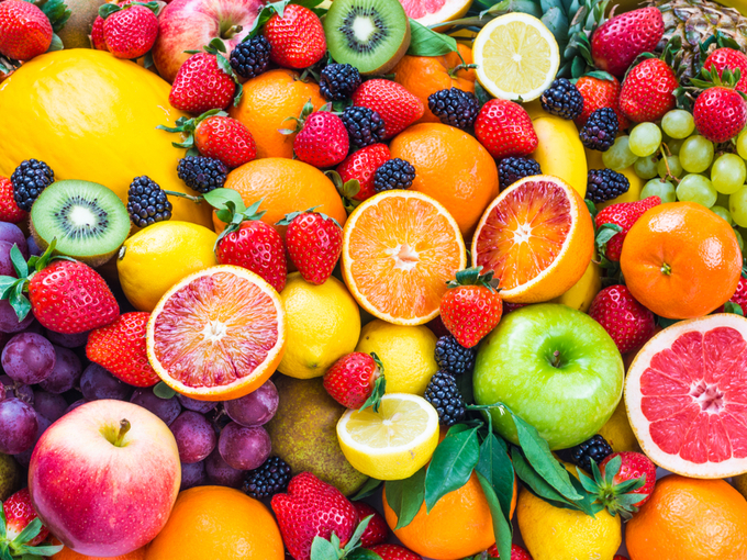 グレープフルーツやオレンジなどさまざまな果物